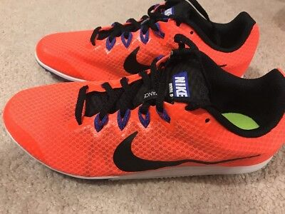brand new 34c7a 69936 NWOB Nike Zoom Rival D 9 Distance Track Spike Men s 13 Orange Black
