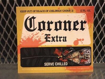 Halloween Beer Labels (CORONA EXTRA BEER Mock Bottle Label ~ CORONER EXTRA ~ Funny Halloween)