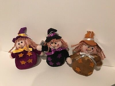 Halloween Witches Small Bean Bag Set Of 3 NEW (Small Beans Halloween)