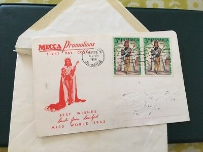 Jamaica 1964 First Day Cover Mecca Promotions Miss World