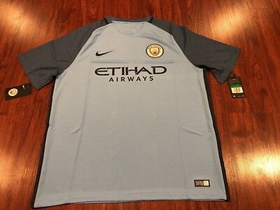 Authentic 2016-17 Nike Manchester City Men's Home Soccer Jersey Extra Large XL image