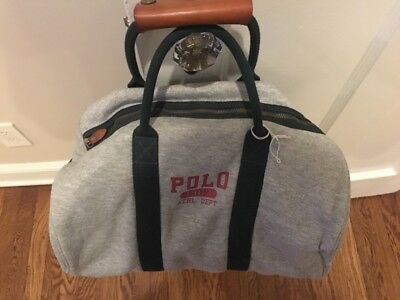 0044f2da89 VIntage POLO RALPH LAUREN DUFFLE GYM BAG Snow BEACH RRL RL-93