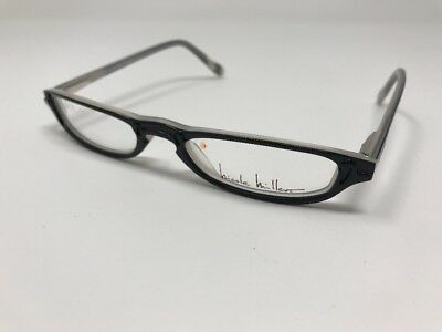 Nicole Miller Eyeglasses PUSH UP EBONY BLACK FLATTOP 50-15-130 50mm AD23