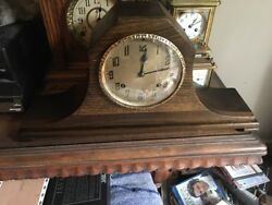 Antique New Haven  Tambour No. 56 Pendulum Wind-Up  Mantle Clock Cleaned Oiled