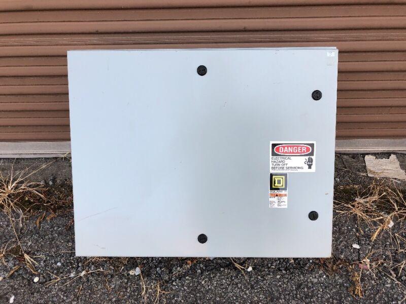 "Saginaw / Square D 30"" x 24"" x 10"" Electrical Enclosure Box; Steel Grey"