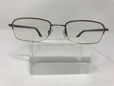 Calvin Klein Collection Eyeglasses 50-19-140 Silver Black G589