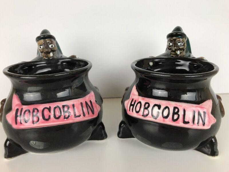 Vintage Hobgoblin Ale Beer Coffee Mug Witch Cauldron Halloween Goblets