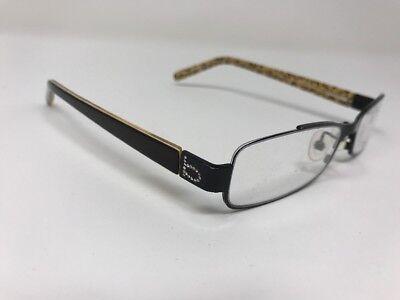 Bebe Lavish Cheetah Print Eyeglasses Demo Lens Authentic Handmade In Japan (Cheetah Print Eyeglasses)