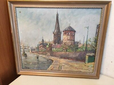 Vintage New York City Impressionist Cityscape Painting NYC Signed