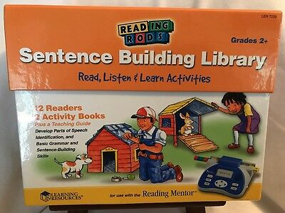 Reading Rods Sentence Building Library! Grades 2+! BRAND NEW! FREE SHIPPING! D17