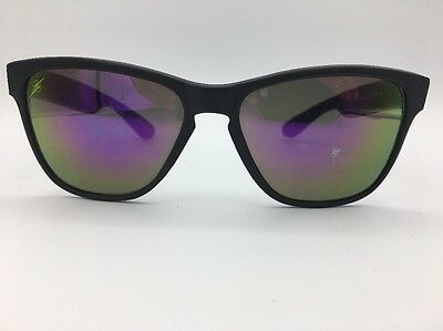 Lightning Bolt Black 1980's Cateye Sunglasses Mirrored Yellow & Purple Lenses