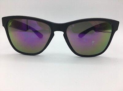 Lightning Bolt Black 1980's Cateye Sunglasses Mirrored Yellow & Purple Lenses