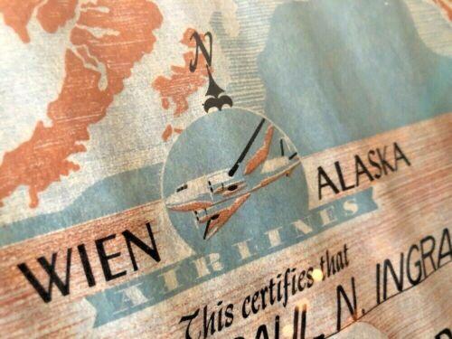 1956 Wein Alaska Airlines Arctic Circle Award Kotzebue Alaska Military Major OLD
