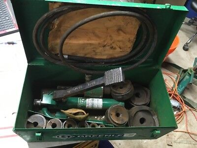 Greenlee 7310sb Hydraulic Knockout 12- 4 Conduit Punch Set 1725 Pump 6110