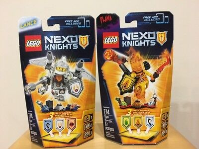 LEGO Nexo Knights 70337 70339 ULTIMATE LANCE FLAMA LOT of 2 NEW FACTORY SEALED