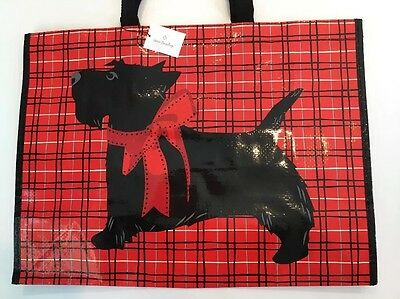 NWT Vera Bradley Market Tote Scottie Dogs NEW Bag Eco Reusable Shopping Sack Red