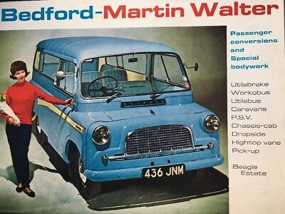 Car Brochure - 1966 Bedford CA Martin Walter Conversions & Bedford Beagle - UK