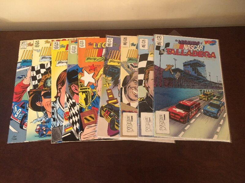 The Legends Of Nascar Vortex Comics Set