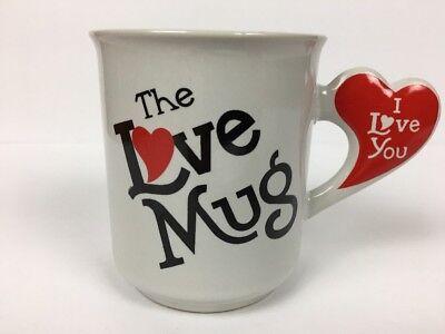 Love Coffee Cup Vintage I Love You Coffee Mug The Love Mug Heart Shaped RARE