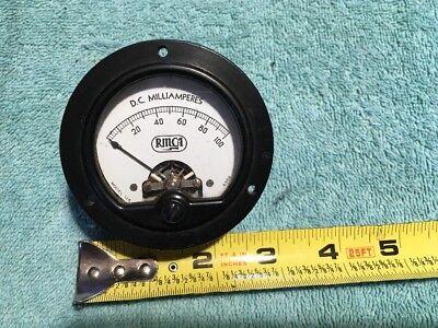 Rmca 0-100 Dc Milliamperes Vintage Radio Panel Meter Me240