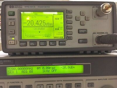 Hp Epm-441a Power Meter W Hp 8481d Sensor