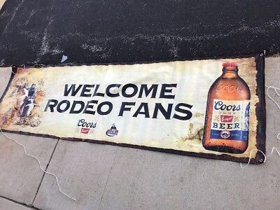 New Coors Banquet Beer Welcome Rodeo Fans PRCA  10 FT Vinyl Banner