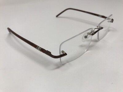 Eye Buy Direct Eyeglasses MARTY 52-16-135mm Brown Metal Frame Rimless GC05