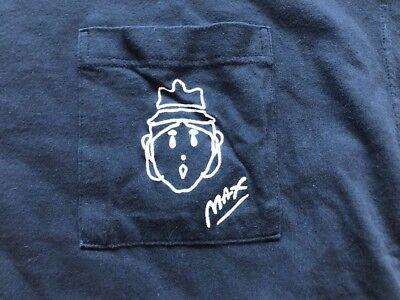 Vintage 80's Peter Max Pocket T-Shirt Large NeoMax Pop Art 1987