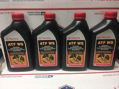 4 QTS GENUINE TOYOTA ATF WS Automatic Transmission oil Fluid ATFWS Lexus Scion