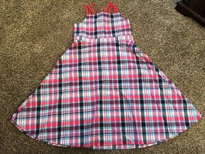 NWT GYMBOREE Girls PINK Blue Plaid EASTER WEDDING DRESS New Size 12 - Girls Easter Dresses Size 12