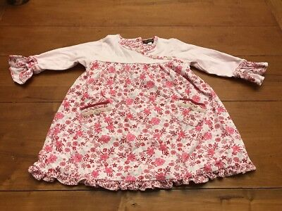 Rabbit Moon Baby Girl Dress w/Floral Detail Size -