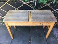 Vintage Original Double School Desk