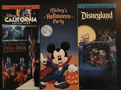 Disneyland Disney California Adventure Mickey's Halloween Party 2016 Map Set