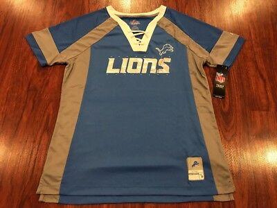 Majestic Women's Detroit Lions NFL Draft Him Football Jersey Medium M Detroit Lions Nfl Draft