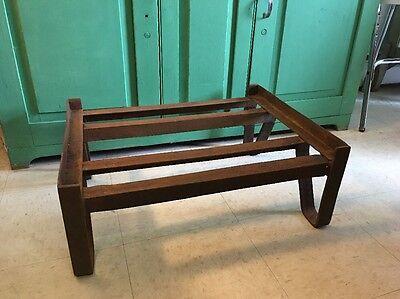 Vintage Industrial Metal Pallet Skid Base Coffee Table Steampunk Legs