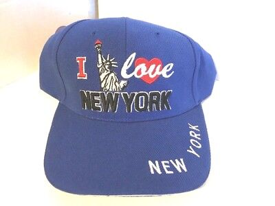 Vintage NWT I Love New York Hat Adjustable Strap Back MX Cap Free Shipping