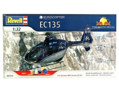 REVELL 05724 EUROCOPTER EC135 THE FLYING BULLS MODEL KIT ECHELLE 1:32 NEUF
