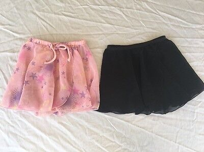 Lot Girl Body Wrappers Capezio Skirt Ballet Gymnastics Size Small 4-6 Child