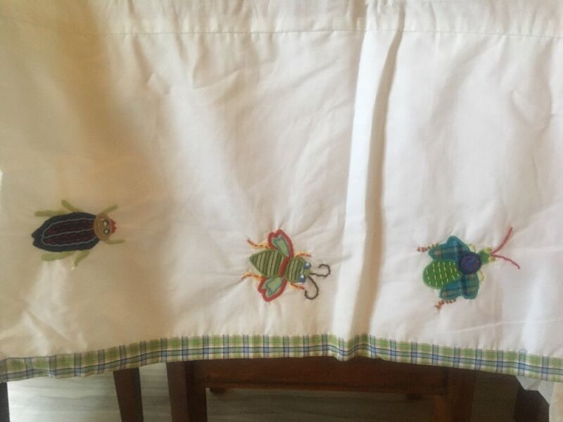 pottery barn kids Max applique crib bedskirt insects Bugs