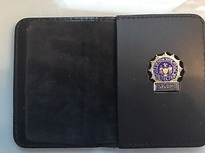 NYPD Detective   Wallet with Union Mini Badge - 2017 NYPD PBA