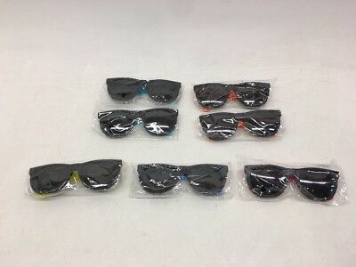 KIDS NEON Fun Assorted Party Sunglasses 80s Pool Party Favors 7 pc