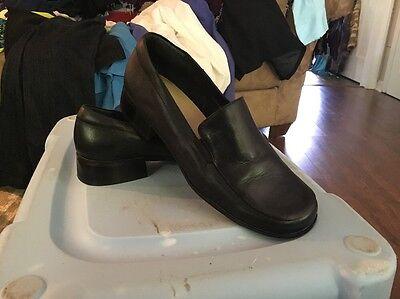 Women Dress Work Leather Shoe Size 8.5 M Liz Claiborne Hilda Black