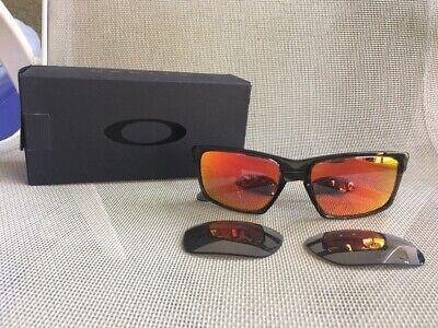 Oakley Sliver Ruby Ferrari Grey Chrome Iridium Polarized OO9262-13 Extra