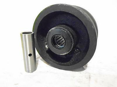4 X 2 V-groove 78 Iron Steel Caster Wheel 600lbs