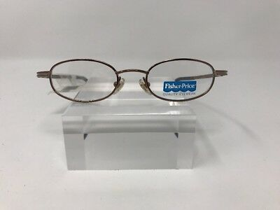 Fisher Price Kids Eyeglasses 42-17-125 Gold Fish Brown L400