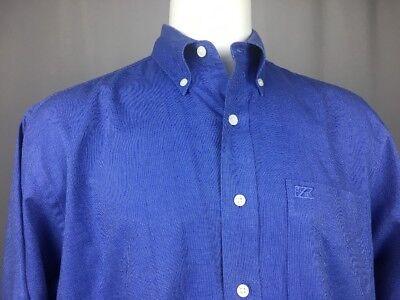 (Cutter & Buck 100% Cotton Blue Button-Down Long Sleeve Dress Shirt M 15.5 34/35)