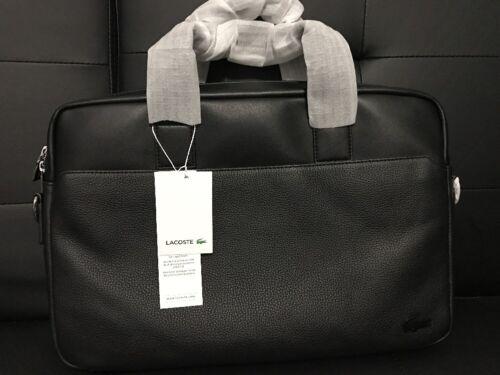 99bedb3f763 Купить Lacoste Mens Rafael Leather Computer Bag, Black Brand на eBay ...