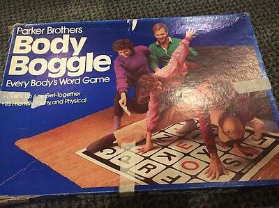 Vintage 1984 Parker Brothers Body Boggle Everybody's Word Game Complete