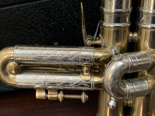 Vintage Conn 22B NY Symphony Special Trumpet with *Extensive Engraving* & Case