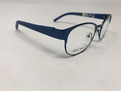 Graffiti Blue Demolens Eyeglasses Flexhinge Rubber Temples G5 48mm New AD43